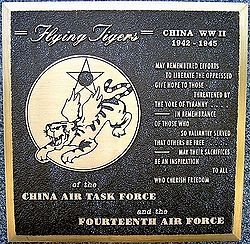 Flying Tigers plaque