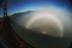 Glory (optical phenomenon) - Image: Fogbow glory spectre bridge edit 1