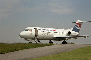 Air Inter - Fokker 70 in 1996 with Air France and Air Inter logos