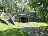 Former canal bridge over Morriston footpath - geograph.org.uk - 1330333.jpg
