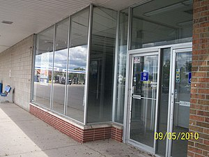 Perry Drug Stores - A former Perry Drugs location (previously Cunningham Drug) in Oscoda, Michigan. Since this picture was taken, the building has been re-tenanted by Goodwill Industries.