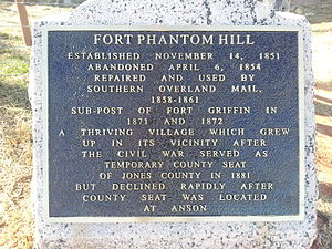 Fort Phantom Hill - Image: Fort Phantom Hill Texas Historical Marker
