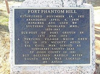 Fort Phantom Hill - Image: Fort Phantom Hill Texas Historical Marker