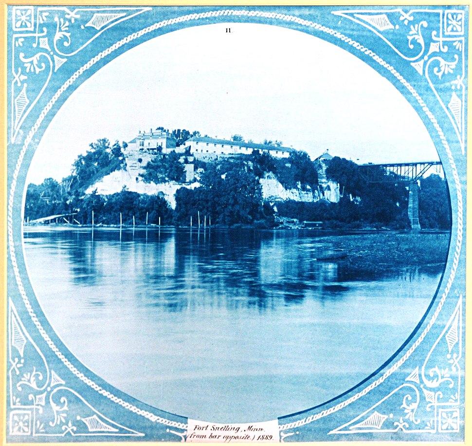 Fort Snelling Minnesota from bar opposite 1889
