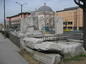 Forum of Theodosius - Remains of the Forum near today's Beyazıt Square