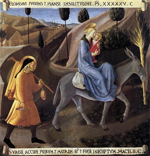Painting by Fra Angelico - Flight into Egypt