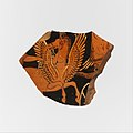 Fragment of a terracotta volute-krater (bowl for mixing wine and water) MET DP116999.jpg