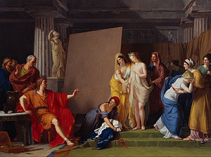 François-André Vincent - Zeuxis Choosing his Models for the Image of Helen from among the Girls of Croton, detail