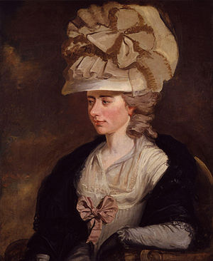 Frances Burney - Portrait by her relative Edward Francis Burney