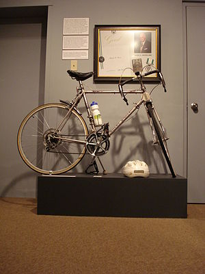 Frank Gross - Silver Ghost bike on display at the Chatham-Kent Museum, April–September, 2008