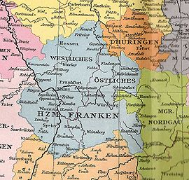 Franconia Occidental y Oriental (ca. 1000)