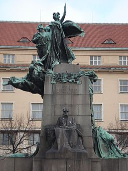 Monument to Frantisek Palacky, a significant member of the Czech National Revival Frantisek Palacky monument.jpg