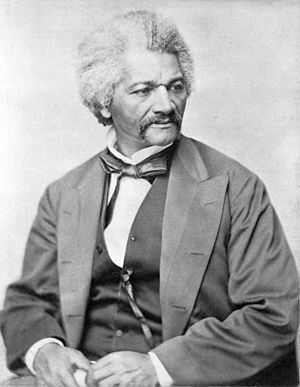 Self-made man - Frederick Douglass, photographed between 1850 and 1860.