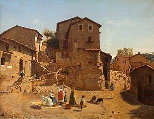 Street Scene from Gerano in the Sabine Hills
