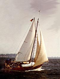wooden sailing boat Kleine Freiheit - 70 year ...