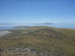 Fremont Island - View from Castle Rock - looking south