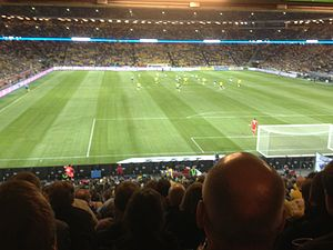 Friends Arena - Sweden v Republic of Ireland. March 22 2013.
