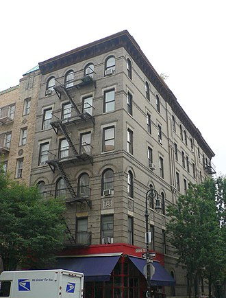 Friends - The Greenwich Village building, 90 Bedford Street, used as the friends' apartment block in establishing shots