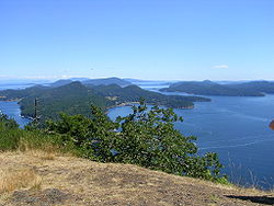 View from Mount Galiano