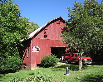 National Register of Historic Places listings in Doniphan County, Kansas - Image: Front of Kinkhead Barn