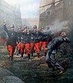 Fucilazione dell'anarchico Francesco Ferrer nel fossato della prigione di Montjuich, a Barcellona.jpg