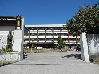 College of the Holy Spirit of Tarlac - The entrance gate of the CHST Campus for primary and secondary education in San Sebastian Village, Tarlac City.