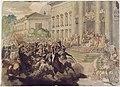 Géricault - Louis XVIII passant en revue aux champs de Mars, RF 1396, Recto.jpg