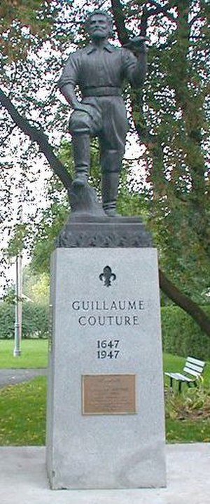 Guillaume Couture - Monument to Guillaume Couture in Levis