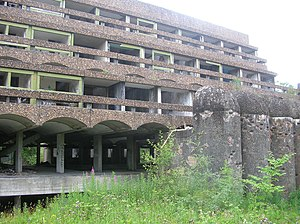 St Peter's Seminary, Cardross - Image: GK&C St Peter's terraced rooms