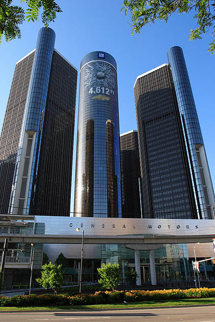 The Renaissance Center, headquarters of General Motors GM HQ.jpg