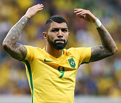 Gabriel Barbosa - the handsome, talented,  football player  with Brazilian roots in 2017