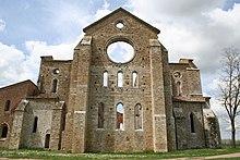 Abbazia di san galgano wikipedia for Casa di architettura gotica