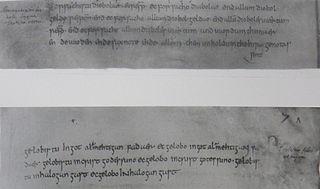 Old Saxon Baptismal Vow manuscript, short before 800