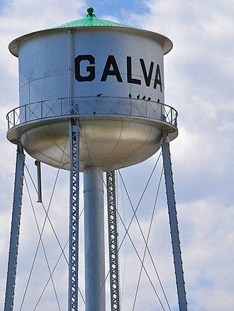 Galva, Kansas - Water Tower in Galva