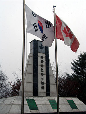 Gapyeong Canada Monument - The Flags