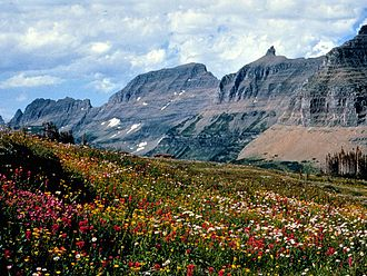 Arête - The Garden Wall, an arête in Glacier National Park