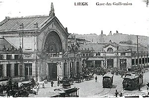 Liège International (1905) - The Liège station as it appeared in 1905 following improvements for the fair