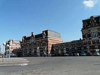 Cambrai - The SNCF railway station in Cambrai