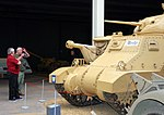 Gareth, Michael and Grant tank, Imperial War Museum, Duxford, May 19th 2018. (42465581655).jpg