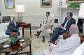 Gaston Sigur briefing President Reagan 26 June 1987.jpg