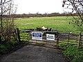 Gate and Farmland Beside Honeypot Lane - geograph.org.uk - 957069.jpg