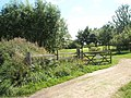 Gate into Severn Meadows Golf Club - geograph.org.uk - 1454389.jpg