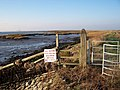 Gate on Saxon Shore Way, Chetney Marshes. - geograph.org.uk - 633556.jpg
