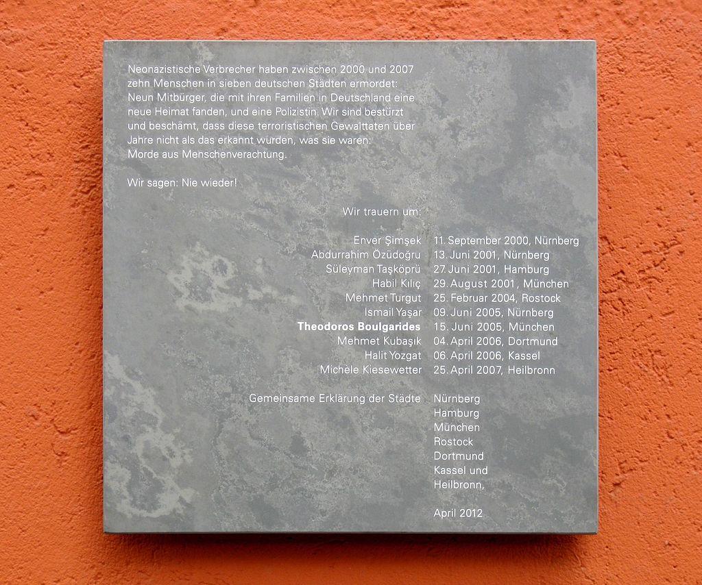 Gedenktafel NSU Boulgarides