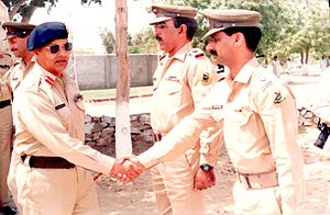 Mirza Aslam Beg - Image: Gen Mirza Aslam Beg visiting Pakistan Army Unit