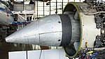 General Electric J47-GE-27 turbojet engine air intake left side view at Hamamatsu Air Base Publication Center November 24, 2014.jpg