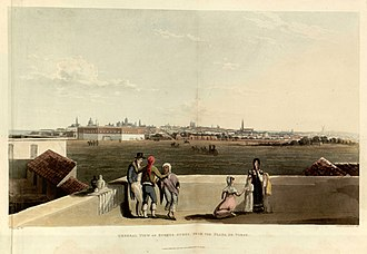 Buenos Aires - Emeric Essex Vidal, General view of Buenos Ayres from the Plaza de Toros, 1820. In this area now lies the Plaza San Martín.