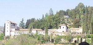 The Generalife viewed from the Alhambra