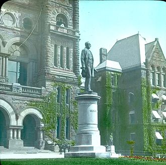 George Brown (Canadian politician) - Monument to George Brown at Queen's Park, Toronto, Ontario, Canada, circa 1910