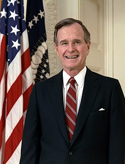 George H. W. Bush 41st president of the United States